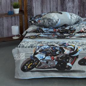 Детское постельное белье из бязи 1.5 сп 4297/1 Супербайк фото