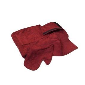 Набор для сауны женский цвет бордовый фото