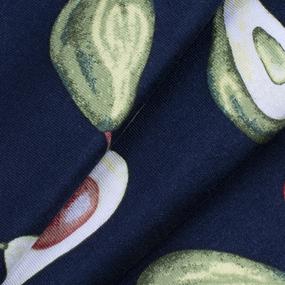 Ткань на отрез кулирка R10027-V7 Авокадо цвет синий фото