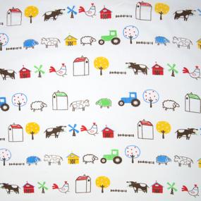 Ткань на отрез бязь плательная 150 см 942 Веселая ферма фото