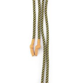Шнур круглый желто-черный оранжевый декор наконечник узел уп 2 шт фото