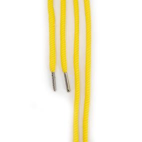 Шнур круглый желтый 110см уп 2 шт фото