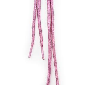Шнур круглый розовый люрекс 110см уп 2 шт фото