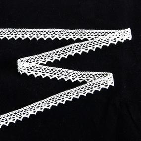 Тесьма вязаная хлопок ширина 15 мм (13.7 м) цвет ХО-125 белый фото