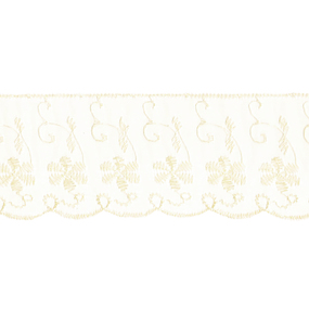 Шитье капрон 65 мм/13.7 м TJ-3101/D1991 цвет 002 молочный фото
