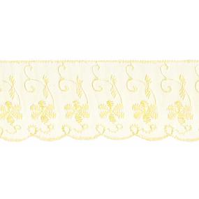 Шитье капрон 65 мм/13.7 м TJ-3101/D1991 цвет св-желтый фото