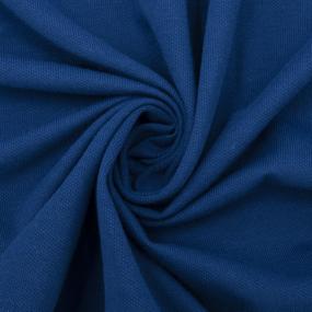 Мерный лоскут пике цвет синий от 1 м фото