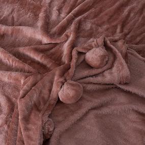Покрывало бубон 200/220 цвет светло-коричневый фото