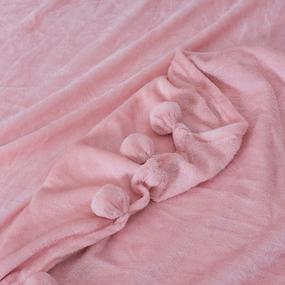 Покрывало бубон 200/220 цвет персиковый фото