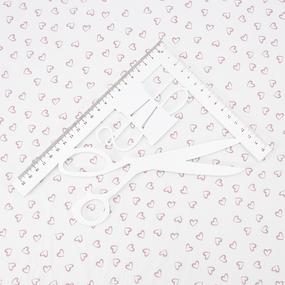 Ткань на отрез супер софт 2417 Сердечки цвет пудровый фото