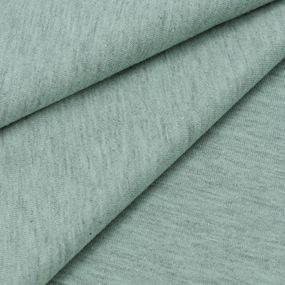 Ткань на отрез кулирка кармеланж М-2096 цвет светлый хаки фото