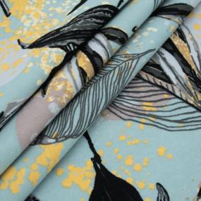 Ткань на отрез кулирка R9073-V1 Колибри фото