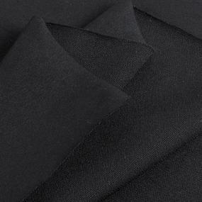 Ткань на отрез футер с лайкрой 1406-1 цвет черный фото