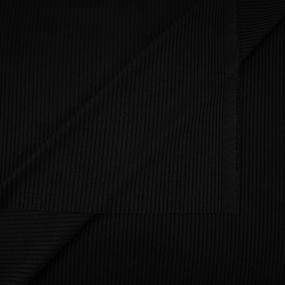 Ткань на отрез трикотаж лапша цвет черный фото