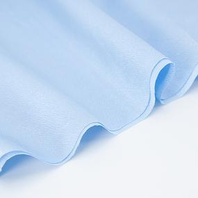 Ткань на отрез креп-сатин 1960 цвет светло-голубой фото