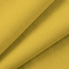 Ткань на отрез футер петля с лайкрой цвет Горчичный 02 фото