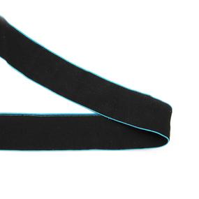 Резинка декоративная №17 черный кант бирюза 4см фото