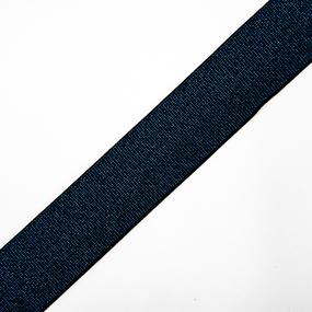 Резинка декоративная №13 черный с синим люрексом 4см фото
