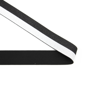 Резинка декоративная 2281 черный серебро с люрексом 4см фото