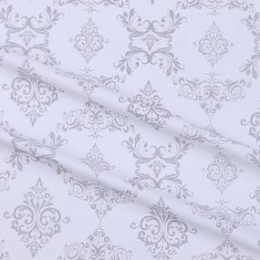 Бязь плательная б/з 150 см 8105/39 Дамаск цвет серый фото