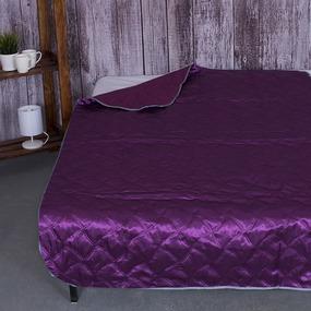 Покрывало детское Шелк двухстороннее цвет фиолетовый 105/150 фото
