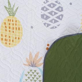 Покрывало детское ультрастеп двухстороннее цвет 10947/18-0108 зеленый 105/150 см фото