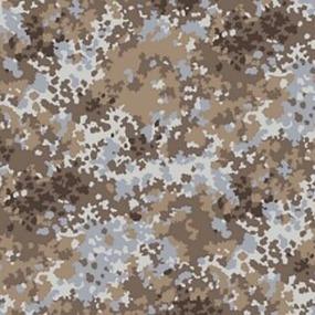 Ткань на отрез саржа цвет камуфляж 671-1п Излом фото