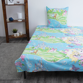 Детское постельное белье из поплина 1.5 сп 1562 Принцесса фото