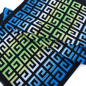Полотенце махровое Sunvim 13D-4 50/90 см цвет голубой-зеленый фото