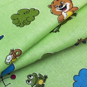 Бязь ГОСТ детская 150 см 383/2 Зоопарк цвет зеленый фото