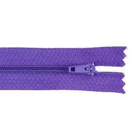 Молния пласт юбочная №3 20 см цвет фиолетовый фото