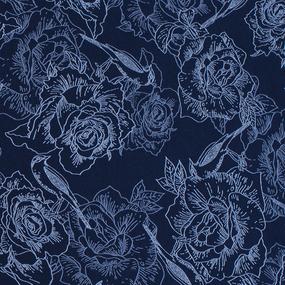 Простыня трикотажная на резинке Премиум цвет цветы59 90/200/20 см фото