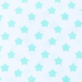 Отрез 150х150 Бязь плательная 150 см 1737-А/16 Прянички цвет мята фото