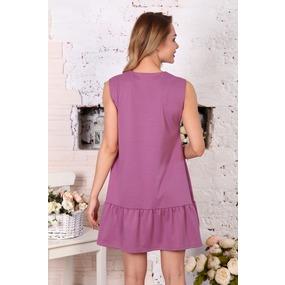 Платье Валерия без рукава брусника Д508 р 42 фото