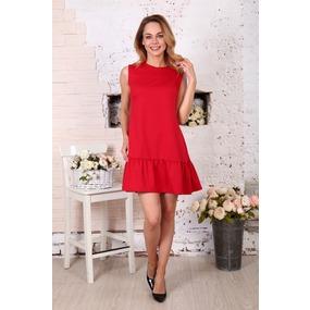 Платье Валерия без рукава красное Д508 р 46 фото