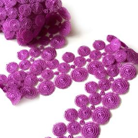 Кружево гипюр 4 см фиолетовый 070 15ярд фото