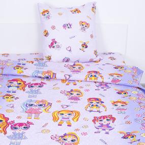 Детское постельное белье из поплина 1.5 сп 11392/1 Лолита фото
