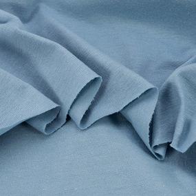 Ткань на отрез кулирка В-7835 цвет винтажный голубой фото