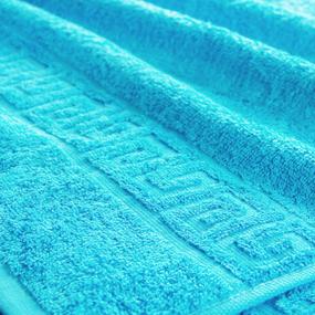 Полотенце махровое Туркменистан 50/90 см цвет бирюзовый BLUE ATOLL фото