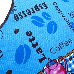 Фартук кухонный из вафельной ткани 379 Чаепитие цвет синий фото