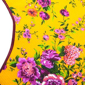 Фартук кухонный из вафельной ткани 4521/4 Цветы желтый фото