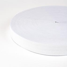 Резинка вязаная 15мм 40м белая фото