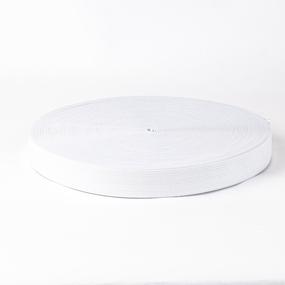 Резинка вязаная 25мм 40м белая фото