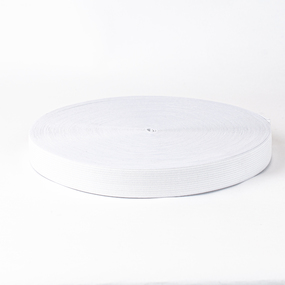 Резинка вязаная 30мм 40м белая фото