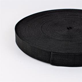 Резинка вязаная 30мм 40м черная фото