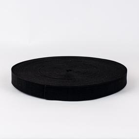 Резинка вязаная 25мм 40м черная фото