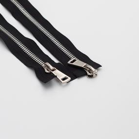 Молния металл №8ТТ никель два замка 75см D580 черный фото