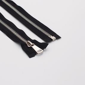 Молния металл №8ТТ никель разъем 80см D580 черный фото