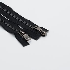 Молния металл №8ТТ черный никель 2 замка 75см D580 черный фото