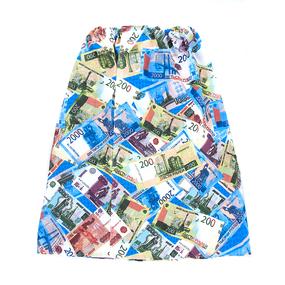 Вафельная накидка на резинке для бани и сауны мужская 5477/1 фото